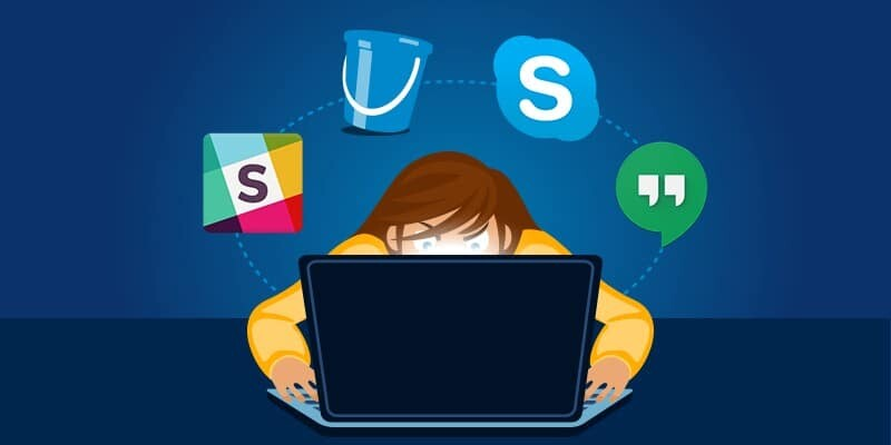 Slack, skype, google hangouts are effective tools to communicate in outsourcing software development projects